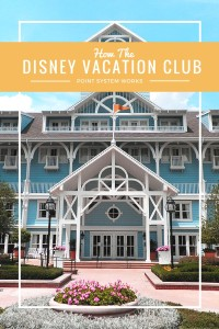 How the Disney Vacation Club (DVC) program works