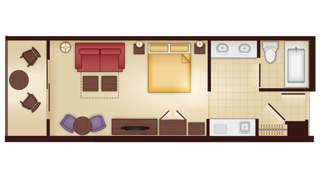 Animal Kingdom 2 Bedroom Villa Floor Plan