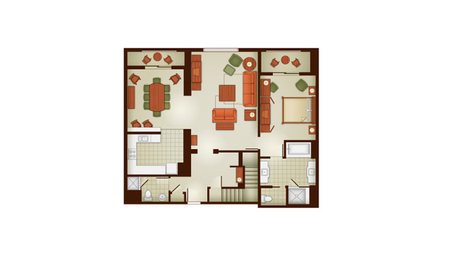 Grand Californian 3 Bedroom Villa