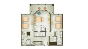 Vero Beach 3 Bedroom Cottage - 1st Floor