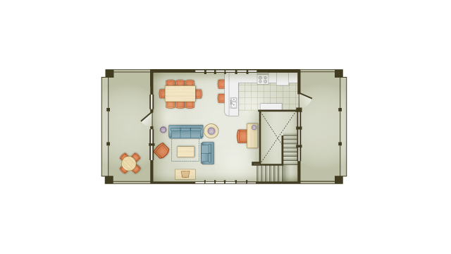 Vero Beach 3 Bedroom Cottage - 2nd Floor
