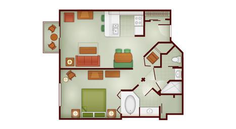 Wilderness Lodge 1 Bedroom Villa