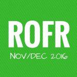 November & December 2016: DVC ROFR and Resales Data