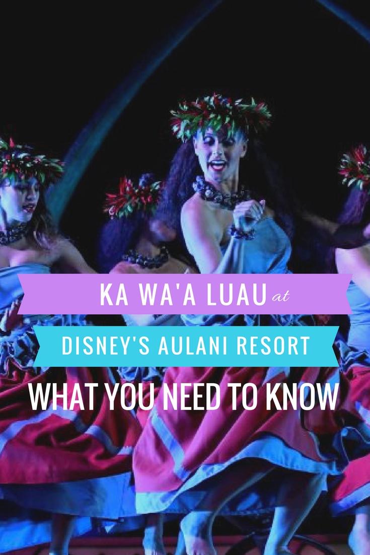 Ka Wa'a Luau Aulani