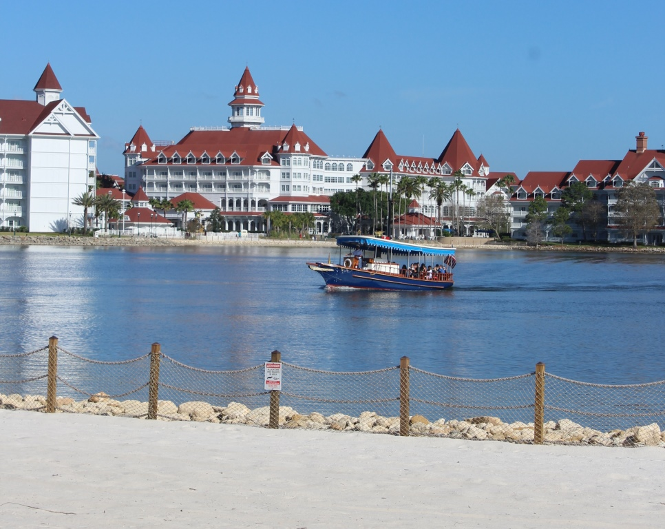 The beach at Disney's Polynesian Village