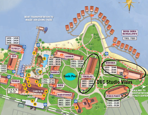 DVC Polynesian Resort Map