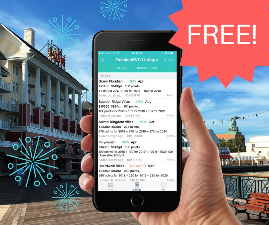 DVC Resale Listings App