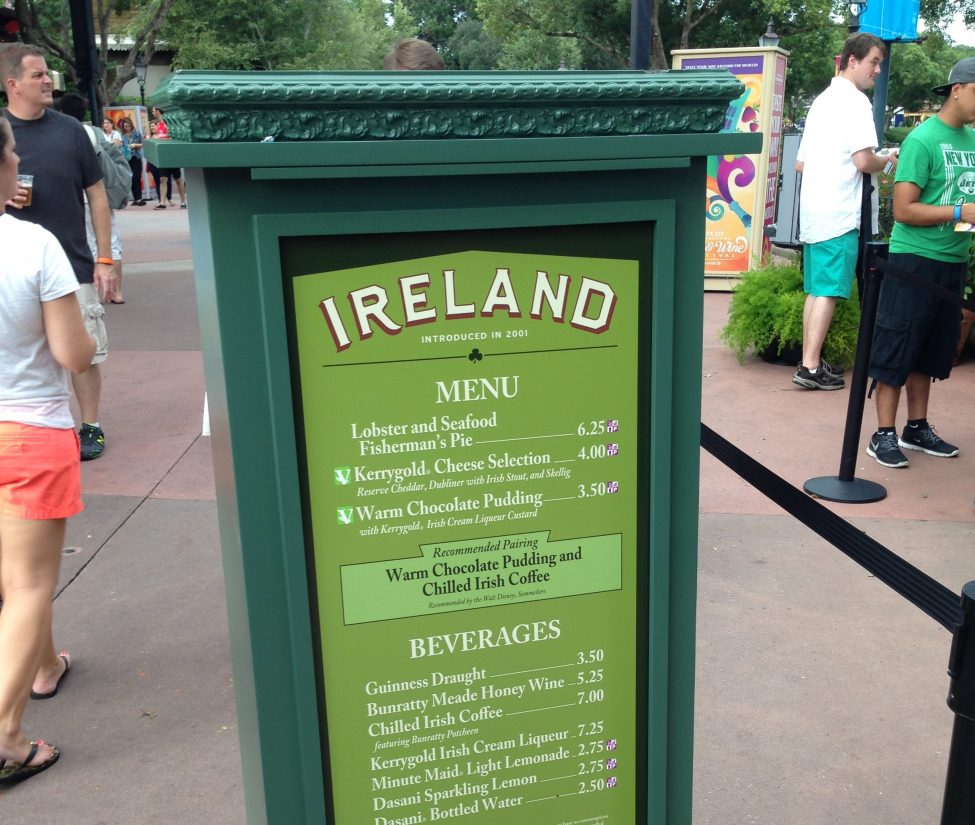 Epcot Food and Wine 2017 Menus