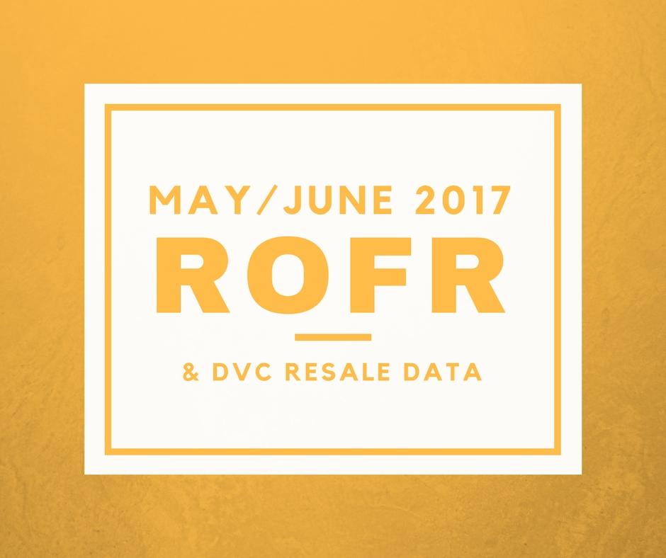 May-June DVC ROFR data