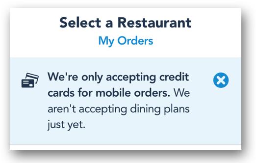 Disney Mobile Ordering