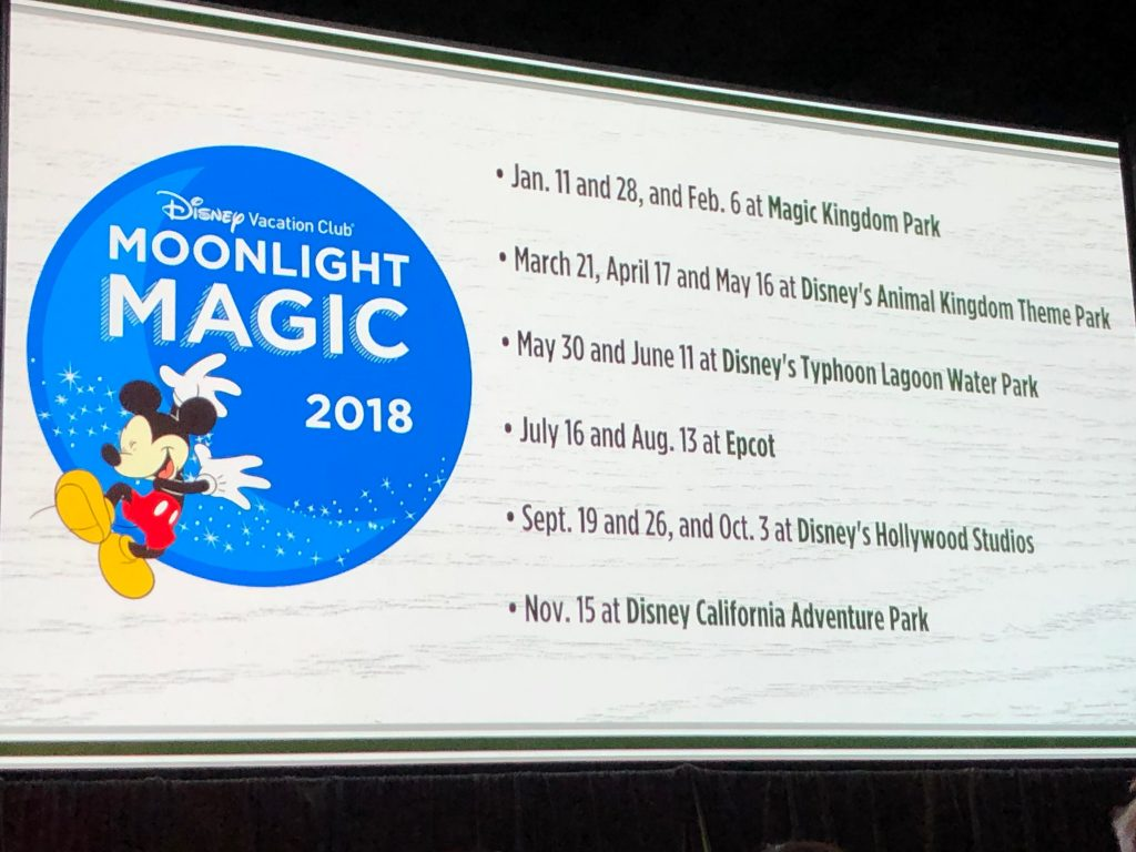 Moonlight Magic 2018 dates