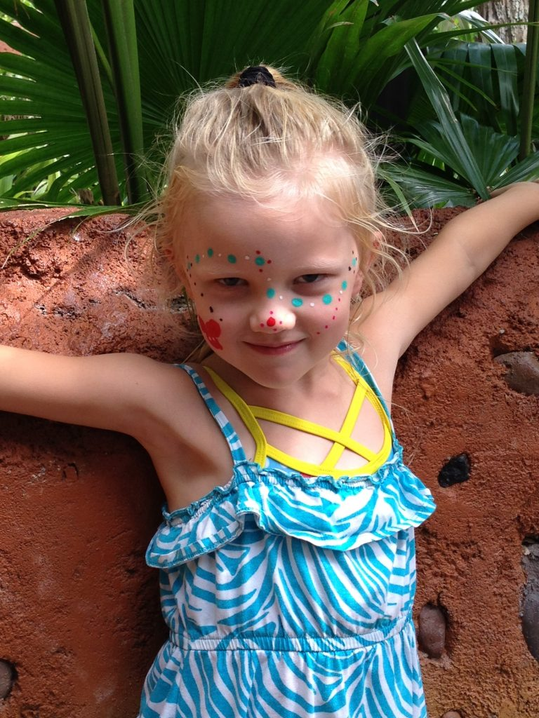 Face painting at Animal Kingdom Lodge