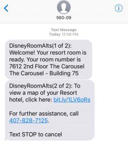 Disney Text Alerts
