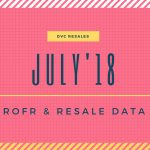 JULY '18 ROFR & DVC Resale Data