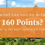 What can you do with 160 DVC points?