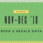 Nov/Dec 2018: DVC ROFR & Resale Data