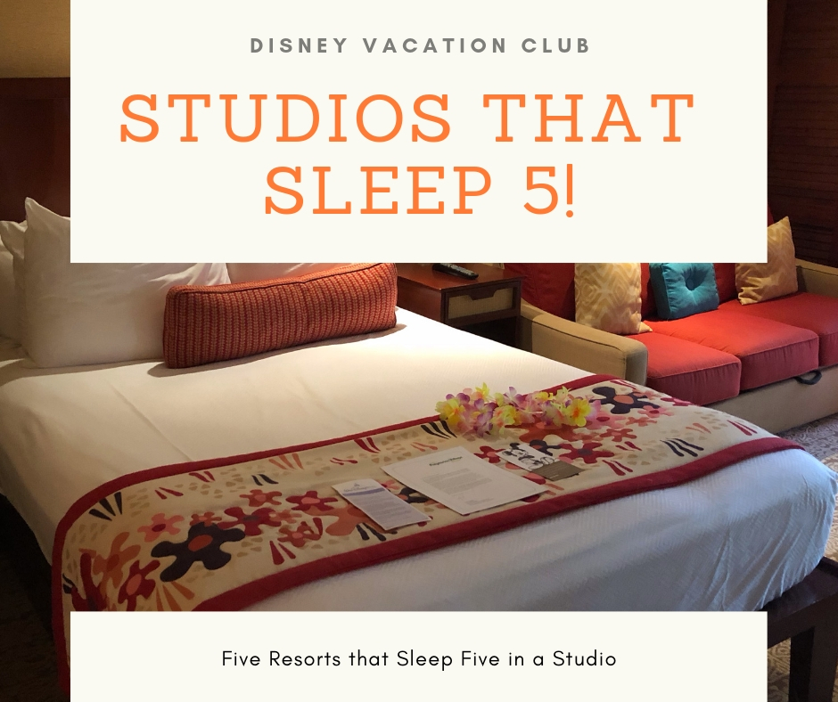DVC studios that sleep 5