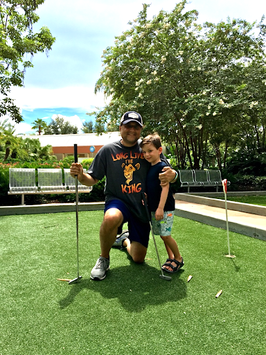 Putt Putt Golf at Disney's Bay Lake Tower Orlando Florida