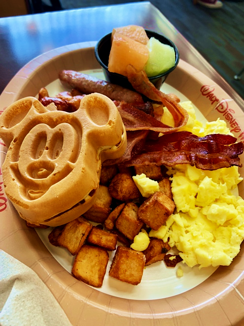 Breakfast Dining Disney's Bay Lake Tower Orlando Florida