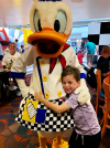 Donald Duck Character Dining Chef Mickey's Disney's Contemporary Resort Orlando Florida Resales DVC