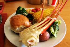 all-you-care-to-eat Seafood Feast at Cape May Café Disney Beach Club Resort DVC