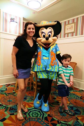 Minnie Mouse May Restaurant Minnie's Beach Bash Breakfast Disney Beach Resort DVC