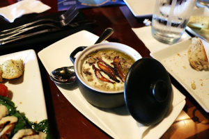 Creamy, Wild Mushroom Soup, The Turf Club Bar and Grill Saratoga Springs Resort and Spa Orlando Florida Resales DVC