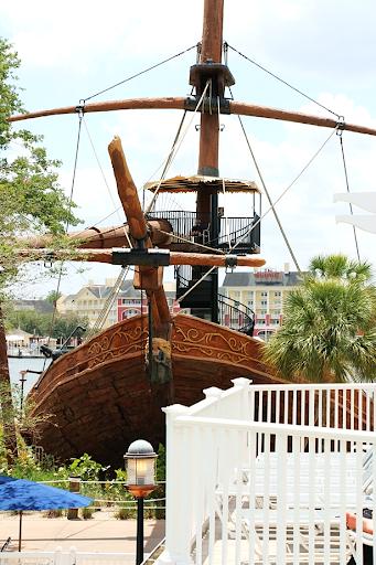 Pirate Ship Stormalong Bay Pool Disney Beach Club Resort DVC