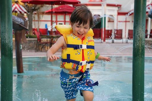 Backstretch Water Play Area Saratoga Springs Resort Orlando Florida