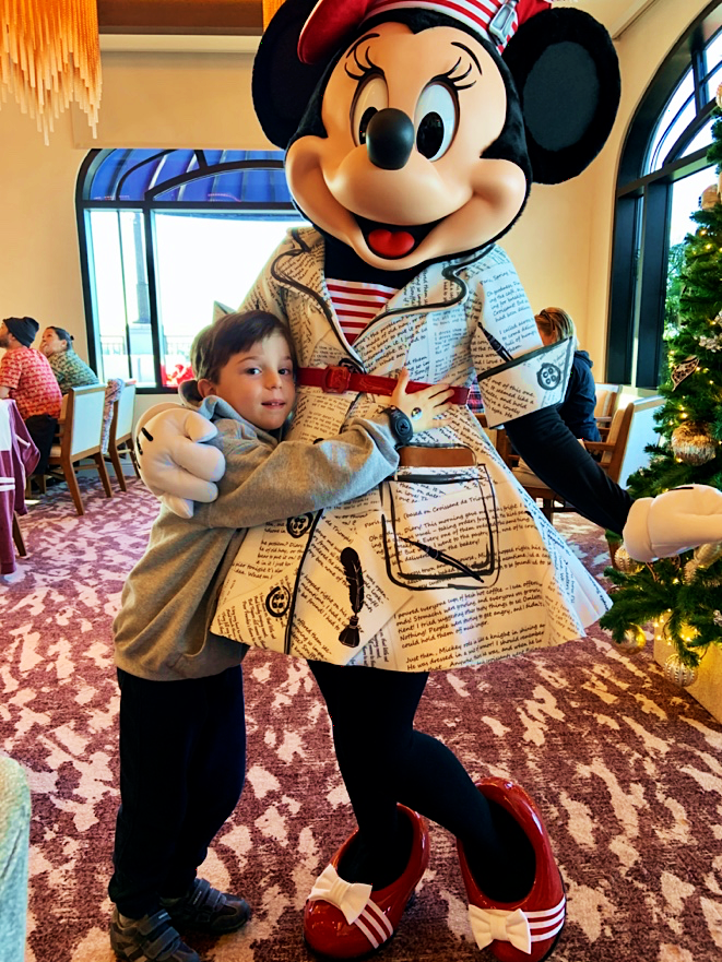 Minnie Mouse at Character Breakfast at Riviera's Topolino's Rooftop Terrace Disney's Riviera Resort Orlando Florida Resales DVC