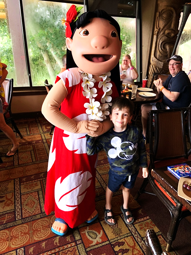 Lilo Ohana Character Breakfast at Disney's Polynesian Village Resort Orlando Florida Resales DVC