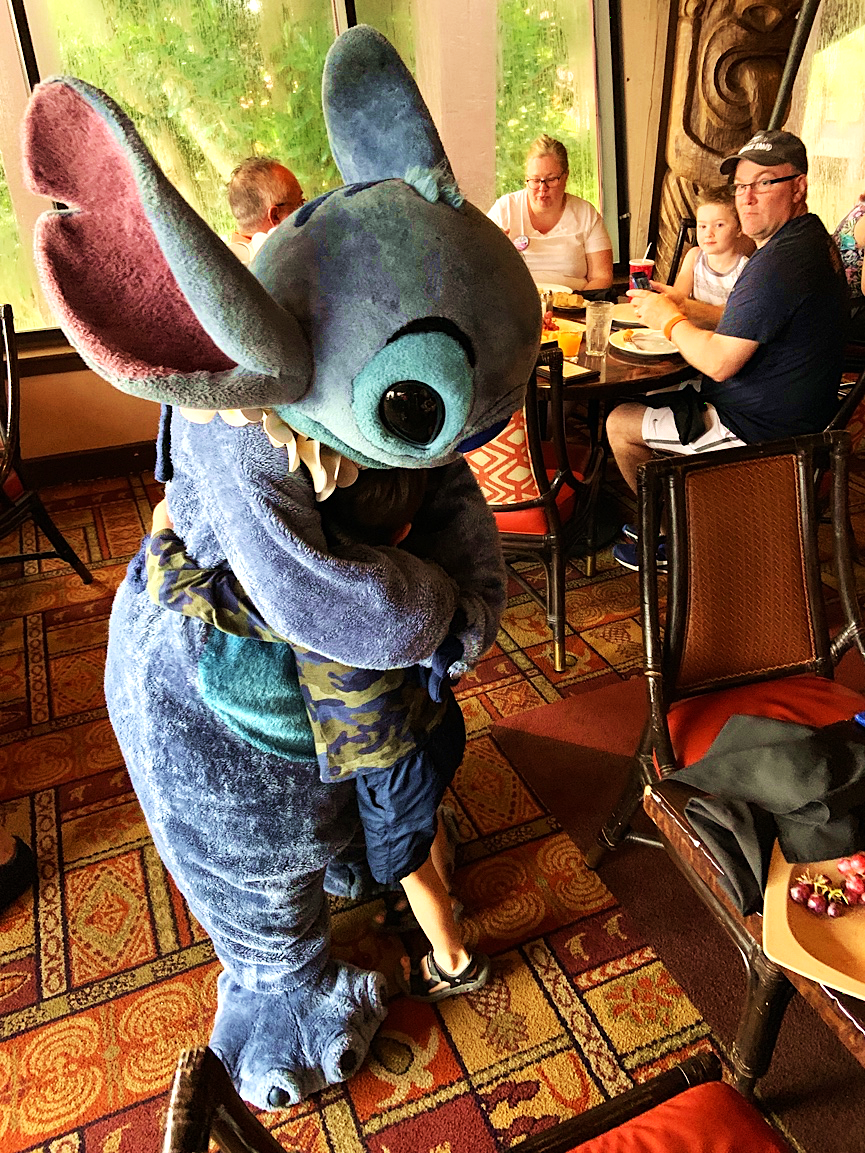 Stitch Ohana Character Breakfast at Disney's Polynesian Village Resort Orlando Florida Resales DVC