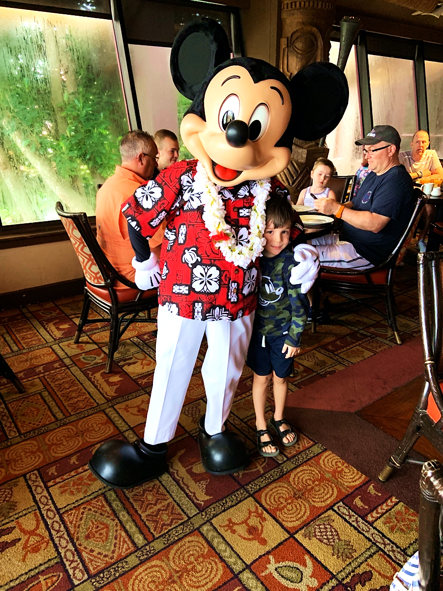 Mickey Mouse Ohana Character Breakfast at Disney's Polynesian Village Resort Orlando Florida Resales DVC