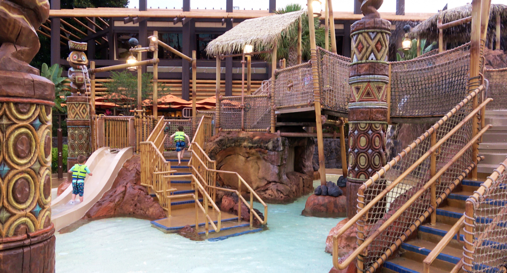 Tiki Water Play Area Disney's Polynesian Village Resort Orlando Florida Resales DVC