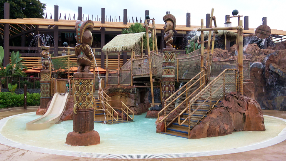 Water Play Area Disney's Polynesian Village Resort Orlando Florida