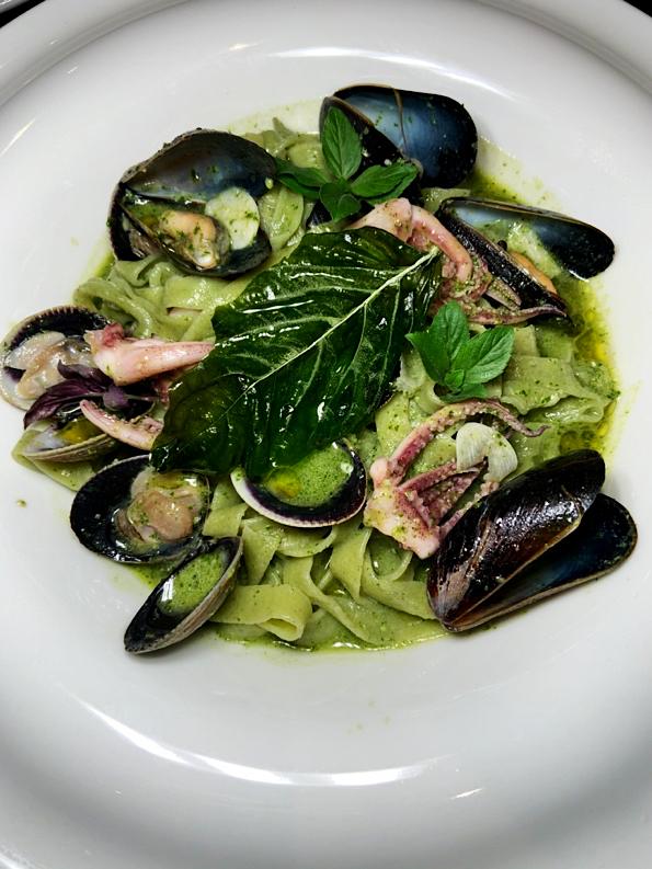 Pesto Seafood Dish at Topolino's TerraceDisney's Riviera Resort Orlando Florida Resales DVC