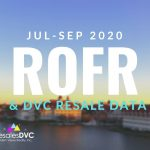 Third Quarter 2020: DVC ROFR & Resale Data
