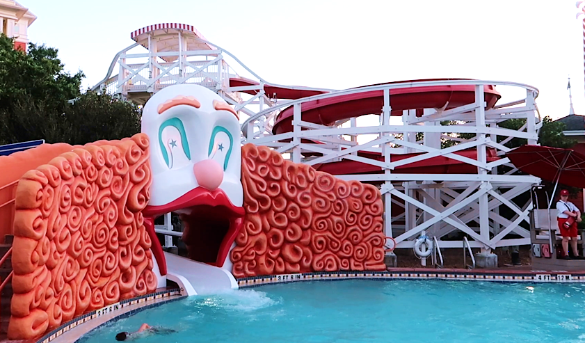 Disney Boardwalk Villas Pool Slide