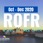 FOURTH QUARTER 2020: DVC ROFR & RESALE DATA
