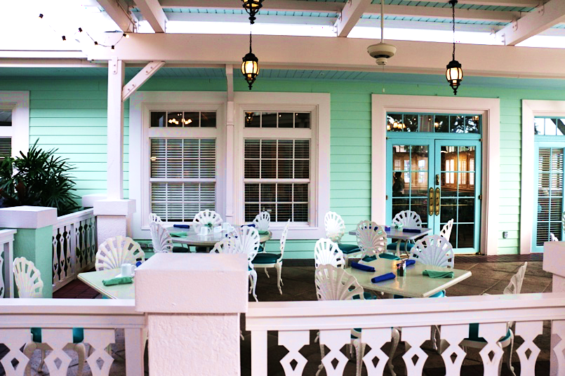 Outside dining at Olivia's at Disney's Old Key West