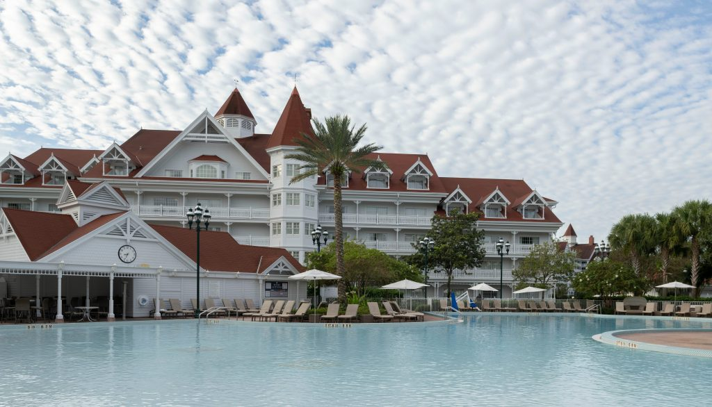 Grand Floridian Courtyard and Pool building 9